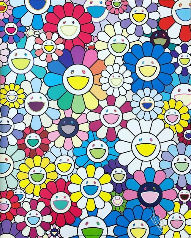 Takashi MURAKAMI - Print-Multiple - A Field of Flowers Seen from the Stairs to Heaven