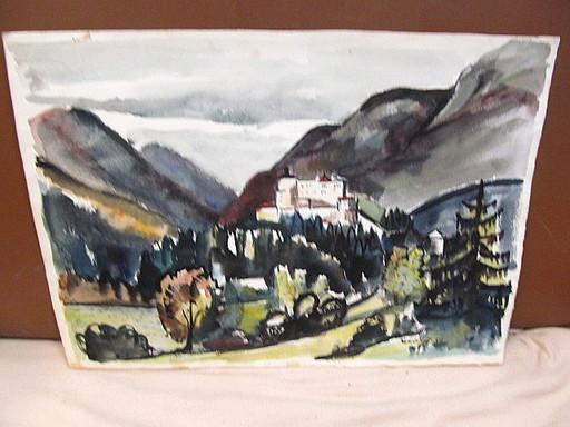 Walter KOHLHOFF - Disegno Acquarello - Burg Hohenwerfen im Salzburger Land