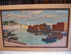 Gustave LINO - Peinture - Le vieux port de Bizerte