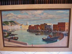 Gustave LINO - Pintura - Le vieux port de Bizerte