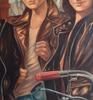 Patrick BRETAGNE - Painting - LEONARD A INVENTE LA HARLEY