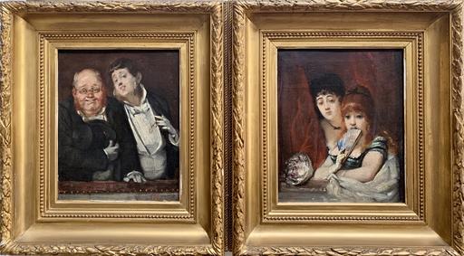 Hippolyte MICHAUD - Peinture - Theaterpublikum