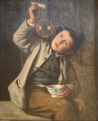 Guido LEVORATI - Peinture - Le bolle di sapone