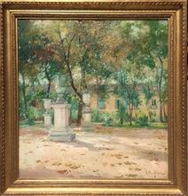 Eliseo MEIFRÉN ROIG - Pintura - Jardín de Isabel II  - Aranjuez