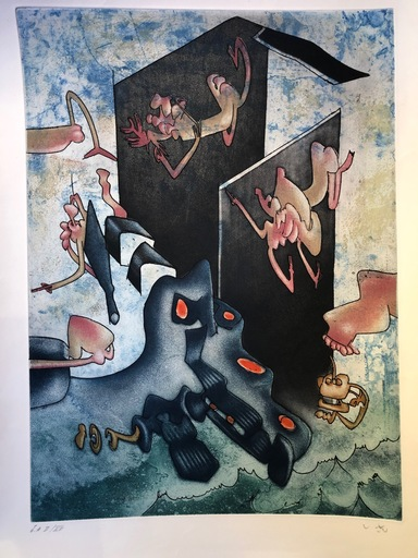Roberto MATTA - Print-Multiple - La Danse de la mort III
