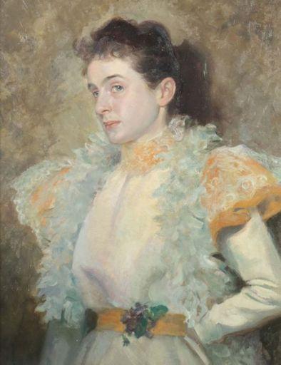 Karl Konrad Friedr. BAUER - Peinture - elegante Lady Belle Epoque