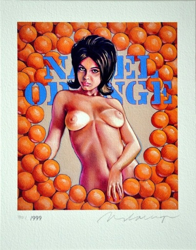 Mel RAMOS - Grabado - Navel Oranges