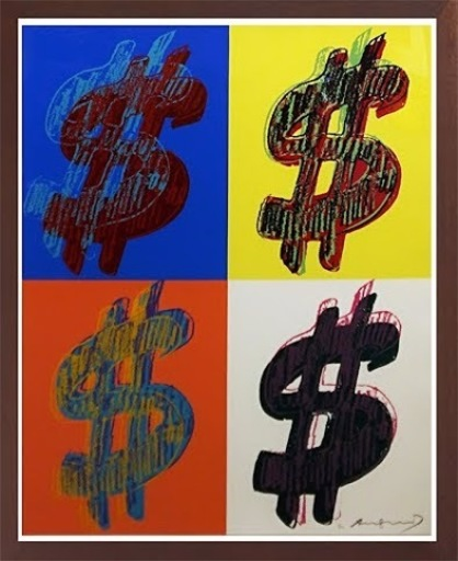 Andy WARHOL - Stampa-Multiplo - $ QUAD (F. & S. II.284), 1982