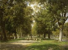Philipp RÖTH - Painting - Am Nymphenburger Kanal