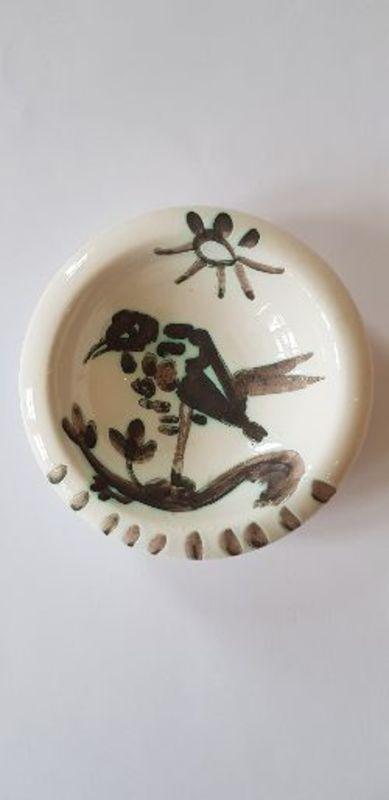 Pablo PICASSO - Céramique - Oiseau au soleil