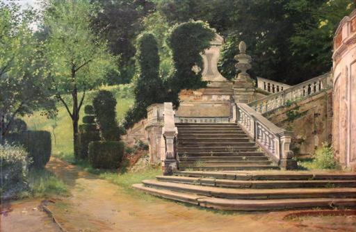 Marco CALDERINI - Peinture - L'edera (Villa della Regina a Torino) di Marco Calderini