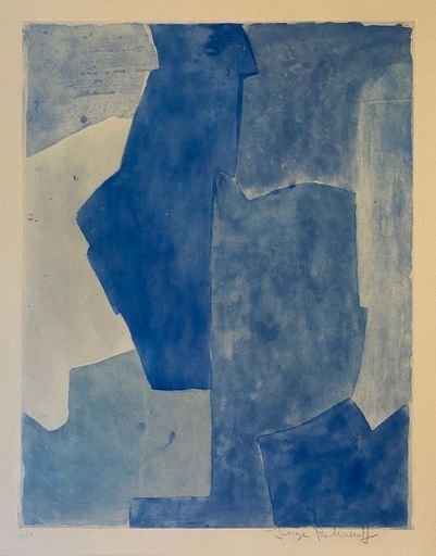 Serge POLIAKOFF - Print-Multiple - Composition bleue n°XII