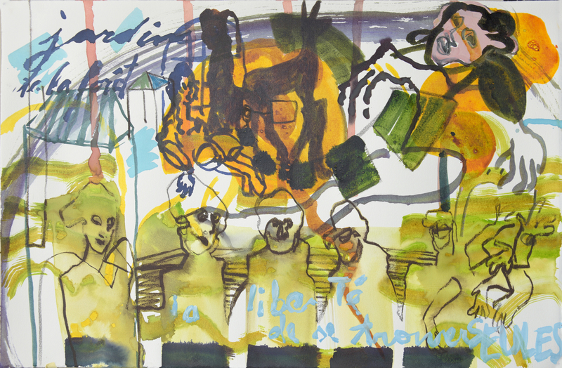 Sandra DETOURBET - Painting - Le troumoi