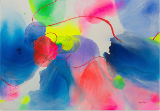 Maria BACHA - Gemälde - New Light IV (Abstract painting)
