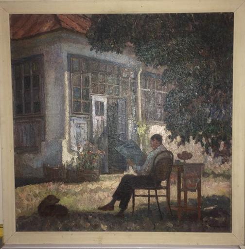 Samuel MÜTZNER - Pintura - Homme à la lecture