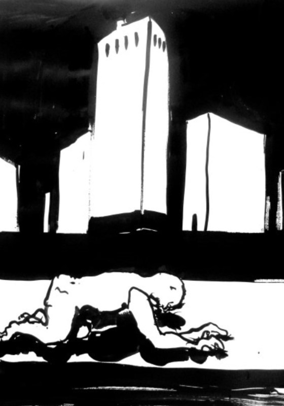 H. SCHLAGEN - Drawing-Watercolor - Pressure,  2014