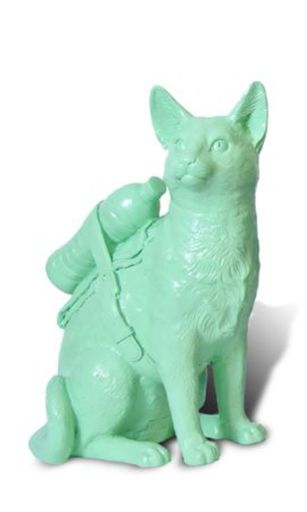 William SWEETLOVE - Print-Multiple - Small cloned pastel green cat with water bottle