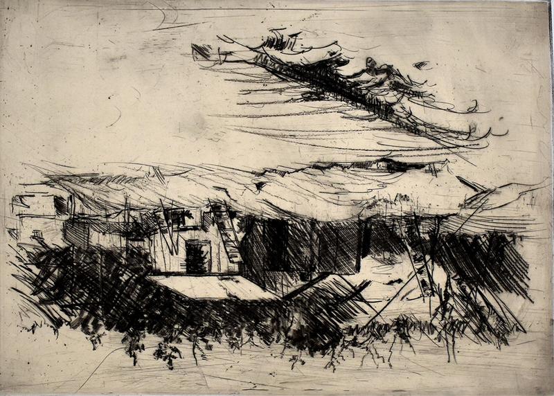乔治•巴塞利茨 - 版画 - Composition IV, from: One Week | Eine Woche