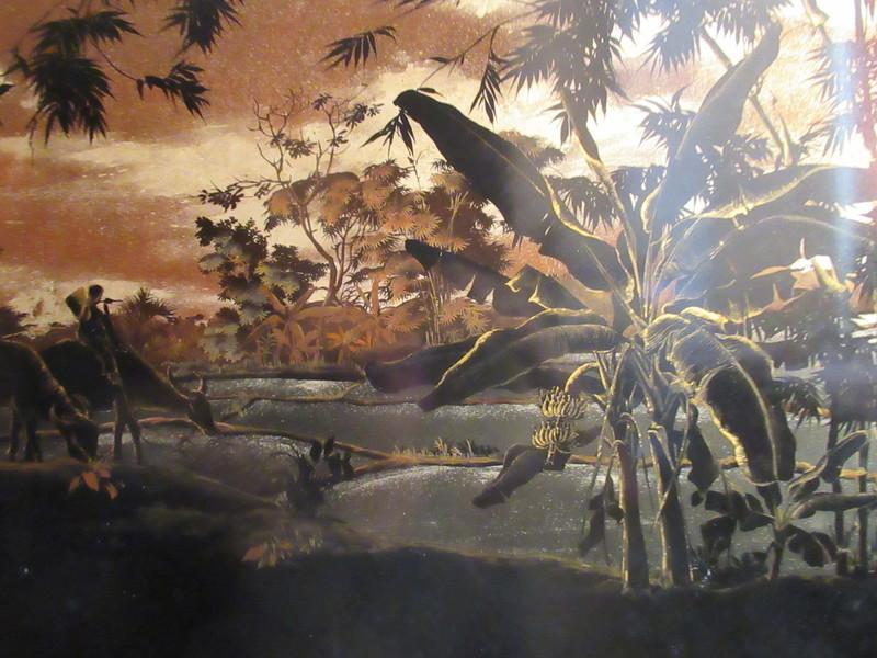 Nguyen THÀNH LÊ - Painting - Rizières au crépuscule
