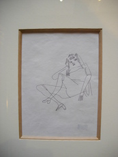 Jules PASCIN - Dessin-Aquarelle - Portait de femme circa 1928