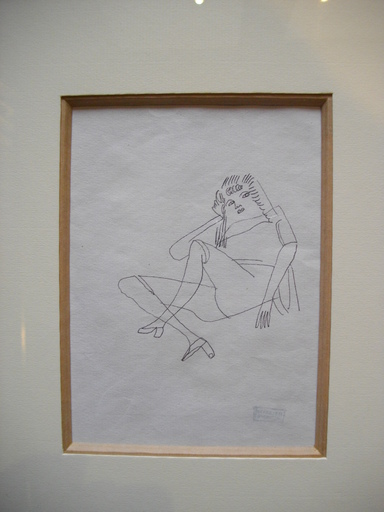 Jules PASCIN - Disegno Acquarello - Portait de femme circa 1928
