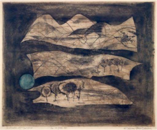 Johnny FRIEDLAENDER - Print-Multiple - Composition au Soleil Bleu
