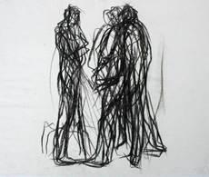 Max UHLIG - Drawing-Watercolor - Kleine Straßenszene