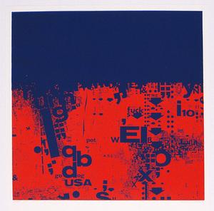 Timm ULRICHS - Estampe-Multiple - Zu: Schriftstücke Rot und Blau
