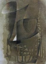 Hans RICHTER - Pintura - Oiseau brun