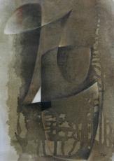 Hans RICHTER - Painting - Oiseau brun