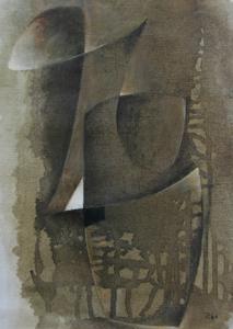 Hans RICHTER - Pittura - Oiseau brun