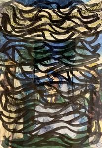 Sol LEWITT - Drawing-Watercolor - Postcard drawing #3