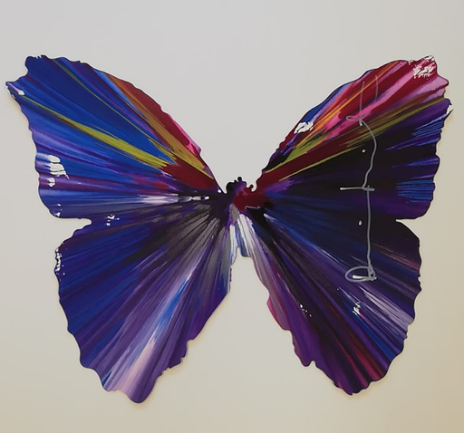 Damien HIRST - Gemälde - Butterfly spin painting
