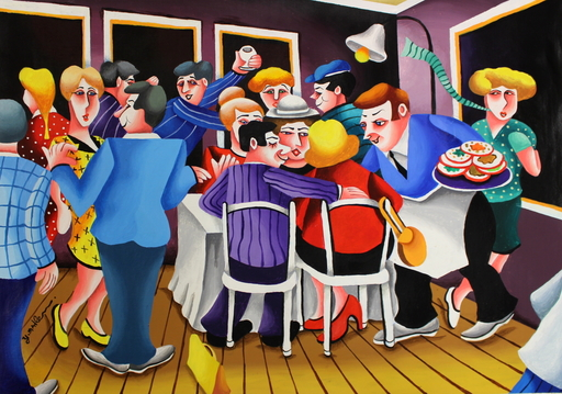 Yuval MAHLER - Painting - Party