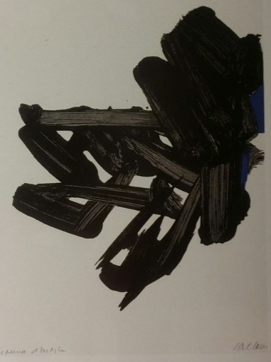 Pierre SOULAGES - Estampe-Multiple - LITHOGRAPHIE 17
