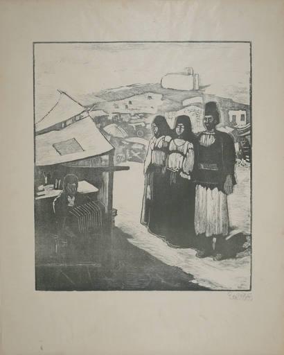 Giuseppe BIASI DA TEULADA - Print-Multiple - Suonatore e personaggi