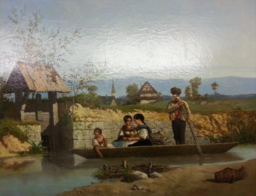 Alfred Charley TOUCHEMOLIN - Pintura - La Barque