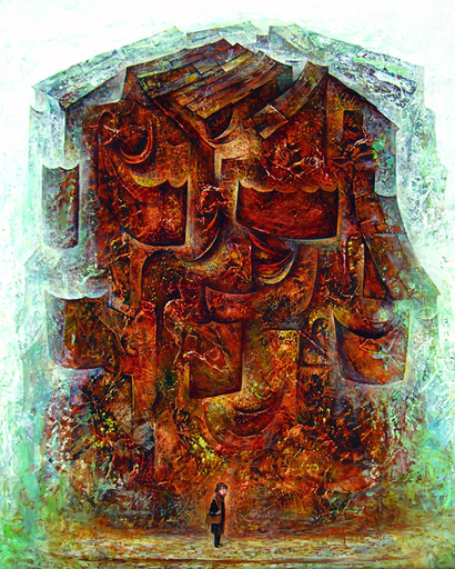 Amur KOCHISHVILI - Painting - Artist & the City