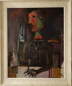 """Francis BIRAS - Painting - """"PORTRAIT attablé"""""""