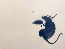 "BANKSY - Pittura - ""Driller Rat"""
