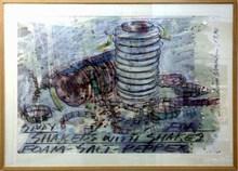 Dennis OPPENHEIM - Pintura - Study: Shakers with shakes Foam Salt Pepper