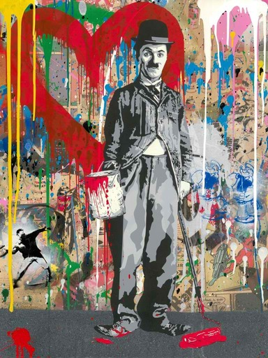 MR BRAINWASH - Gemälde - Chaplin