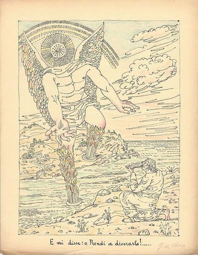 乔治•德•基里科 - 版画 - E mi disse : prendi a divorarlo,1941