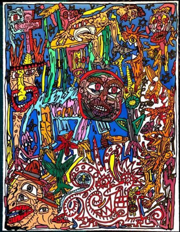 贡巴斯 - 版画 - L'Homme Animal