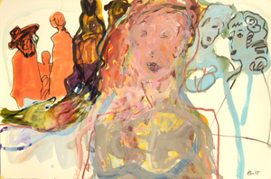 Sandra DETOURBET - Painting - La Princesse