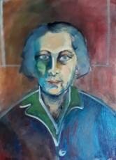 Sima BEN ARI - Pintura - portrait of the artist Ziona Tagger
