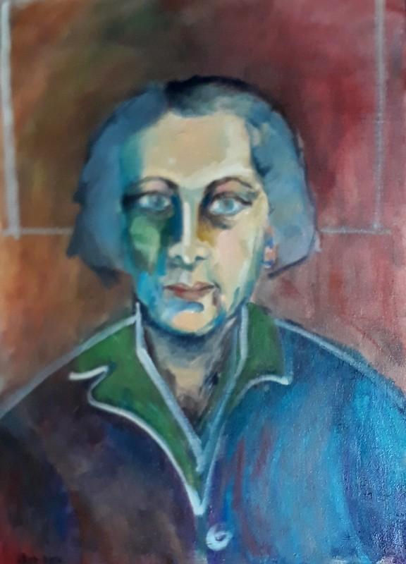 Sima BEN ARI - Peinture - portrait of the artist Ziona Tagger