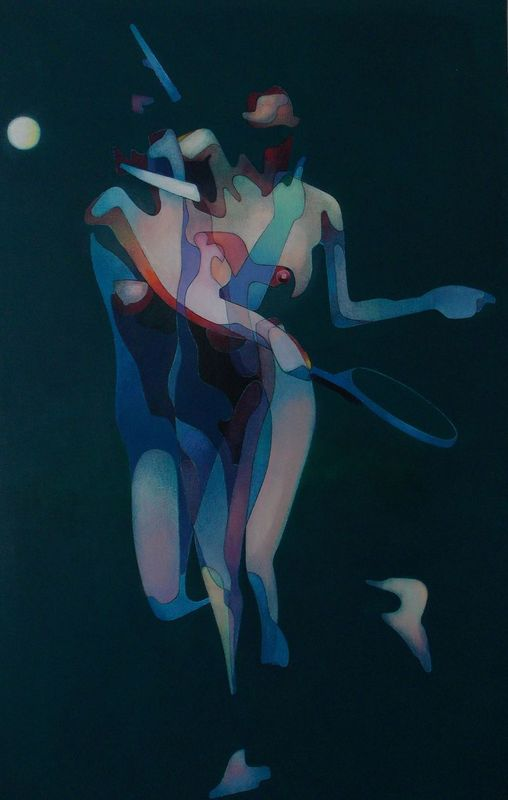 Milburn FOSTER - Pittura - Woman Playing Tennis