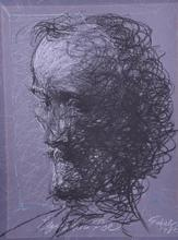 Roberto FABELO - Peinture - Edgar Allan Poe (1986)