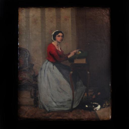 Alexis VOLLON - Painting - La brodeuse